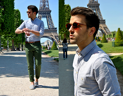 Marc Galobardes - Asos Shirt, Zara Trousers, H&M Espadrillas - CHAMPS DE MARS #PARIS