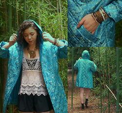 Hope Bidinger - Vintage Coat, Urban Outfitters Necklace, A'gacici Crochet Top - Cocoon