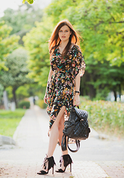 Viktoriya Sener - Alice's Pig Dress, Chicwish Backpack, Zara Sandals - WONDERLAND