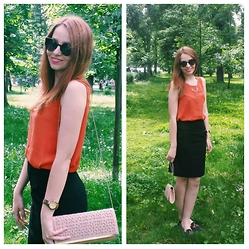 Oana O - Sunglasses, Vero Moda Top, Skirt - Central Park