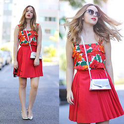 Ana Luísa Braun - Chic Wish Skirt, Choies Top, Zerouv Glasses - LADY IN RED