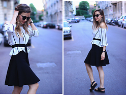 IVANA J. - Zara Skirt, Vagabond Sandals - Shoulders are IN