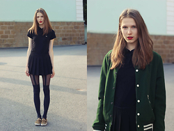 Sára Sošková - H&M Jacket, Fred Perry Tshirt, Forever 21 Skort, Zara Shoes - Feeling good