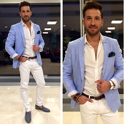 RAFAL MASLAK - Pawo Jacket, Zara Shirt, Pawo Trousers, Pawo Shoes, Marc O'polo Belt, Timex Watch, Yes Jewelry, Pawo Buttonhole - TOTAL LOOK #59