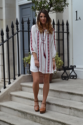 Gemma Talbot - Mango Dress, Topshop Shoes - Boho Smock Dress