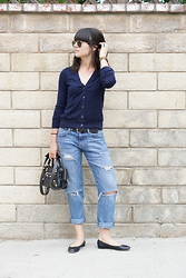 Casey David - Uniqlo Cardigan, Chloe Flats - Oversized