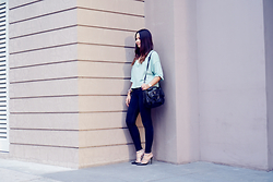 Patricia Prieto - Free People Top, Proenza Schouler Bag, Valentino Heels - Easy Like Sunday Morning