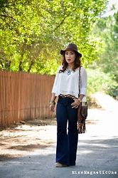 Ojie Papalli - Mango Fedora Hat, Boohoo Pants, Ebay Necklace, Thrifting Clutch Bag - BOHO CHIC