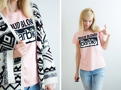 Joanna B - Zara T Shirt, Pull & Bear Cardigan - Barbie - Fashion Icon