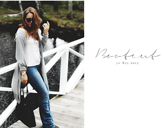 Emelia Gunnarsson - H&M Bootcut Jeans, Gina Tricot Top, Lager157 Cardigan, Michael Kors Bag - Bootcut