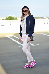 Coco Bebe - Zara Jacket, New Yorker Tee, Louis Vuitton Scarf, Mango Jeans, Mohito Bag, New Balance - Look of the day 25