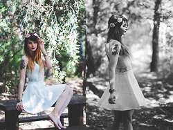 GabyOwl - Primark Flowercrown, H&M Fairy Dress - Fairy Forest