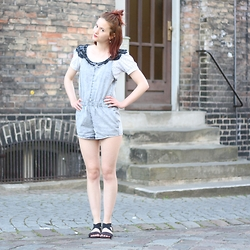 Eva Fi -  - Sundays are for denim rompers