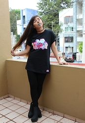 Karen Cardiel - My Little Pony Black Tshirt, H&M Platform Boots, Tattoo Choker, Choker Ring - ♥ Another of Little Pony ♥