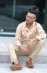 Faissal Yartaa - Grand Frank Parc Floral Button Down Shirt - I need you here with me