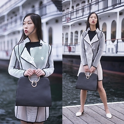 Cissy Zhang - Stylemoi White Fishnet Coat - Time to board