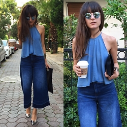 F COSMOS F - Zara Top, Pull & Bear Pants, Acne Studios Pumps - Jeans Love