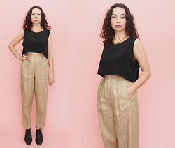 Funky Fondled and Fresh ! - 80s Vintage Pants - Just Neutrals