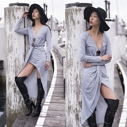 Cissy Zhang - Style Moi Grey Wrap Dress - Cool in grey