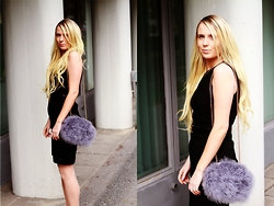 Matilda Wikblom - River Island Feather Bag, Hermës Hermes Belt, H&M Dress - LBD