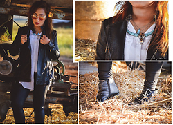 Ojie Papalli - Mango Leather Jacket - From the Farm