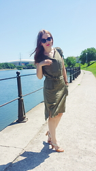 Oana O - H&M Dress - Army dress