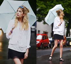 Ebba Zingmark - Forever 21 Top, Forever 21 Sandals, Forever 21 Umbrella, Gap Jacket, Borrowed Skirt - LET IT FALL