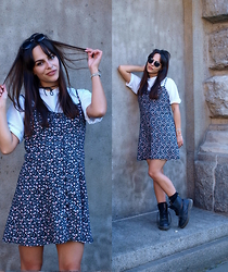 Andreina Andreina - H&M Dress, Dr. Martens Boots, Selfmade Tshirt - School's Out