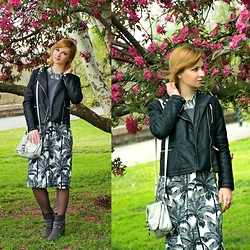 Svitlana L - Pull & Bear Jacket, H&M Dress, H&M Bag, Zara Necklace - FLOWER BLOSSOM