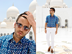 Marc Galobardes - He By Mango Shirt, Zara Trousers, Zara Shoes - SHEIKH ZAYED MOSQUE
