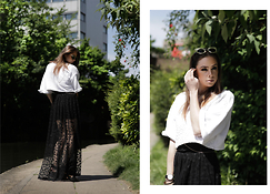 Natalia Homolova - H&M Top, Asos Skirt, Nibshop Sunglasses, H&M Sandals - DOTTY pathWALK