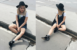 Chariza Miranda - H&M Hat, Guess Denim Dunga Dress, To Be Announced Assault Boots - Summer Feels