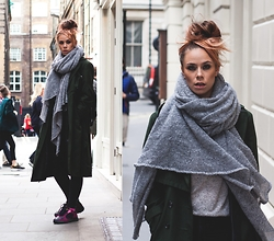 Natalia Homolova - Asos Scarf, Primark Coat, Topshop Jeans, Adidas Trainers - London is COLD again