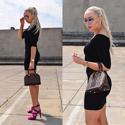 Vanessa Kandzia - Louis Vuitton Bag, Zara Dress - THE LITTLE BLACK DRESS