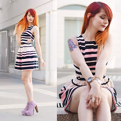 GabyOwl - Topshop Pink Dress, Jeffrey Campbell Lita - Pink Petite Dress
