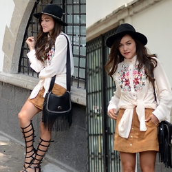 "Gaby Gómez MODA CAPITAL - Sheinside Blouse, Coach Bag, H&M Skirt - ""Bohemian summer"""