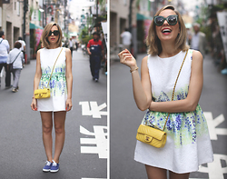 My Showroom Priscila - Chicwish Dress, Chanel Bag, Victoria Shoes, Celine Sunnies - Tokyo - Floral Dress