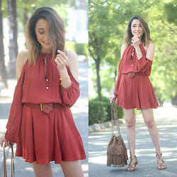 Besugarandspice FV - Zara Dress, Mango Sandals - Marsala Dress