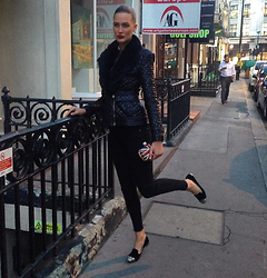 Amina Allam - Balmain Jacket, Zara Jeans, Alexander Mcqueen Clutch, Miu Loafers - Going for a dinner