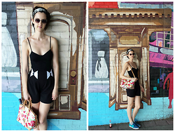 Shannon Ellen Pallay - Dooney & Bourke Bag, Rachel Antonoff Shorts, Vans Shoes, Bar Iii Top - Cobble Hill