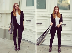 Vera G - Cheap Monday Shirt, Zara Boots, Primark Bag - Black white