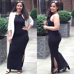 Andrea Da Silva - River Island Blazer, Asos Bodycon Maxidress, Asos Heeled Sandals, Marc By Jacobs Sunglasses - Sundress season