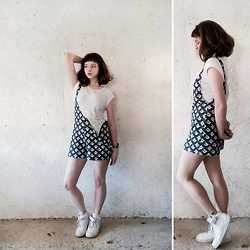Mimi M - Zara Patterned Playsuit, Nike Air Force - Summer ready
