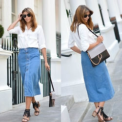 Emma Hill - Denim Midi Skirt - Days in Denim