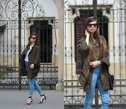 Ramona Crisstea - New Look Heels, Vero Moda Jeans, Zara Jacket, Terranova T Shirt, Mohito Bag - Rainy days
