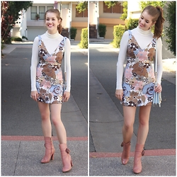 Heidi Landford - Zara Dress, Ally Sweater, Alannah Hill Boots, Forever New Bag, Mimco Earrings - Hey Mama Welcome To The 60's
