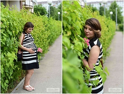 Karina Usace - Lindex Dress - 9 month pregnancy look