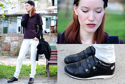 Foxy Green - Fox Sneakers, Second Hand Tee, House Jeans - Black sneakers