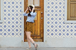Denise Assis - Zara Striped Shirt, H&M Shorts, Parfois Espadrilles - Blues!!
