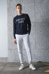 Oliver Lips - Gap Sweater, 120% Lino Linen Trousers - Mind the GAP